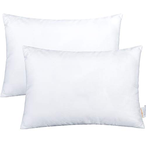 NTBAY 2 Pack Cotton Down Alternative Toddler Pillows, Soft and Hypoallergenic Baby Small Pillows for Sleeping, Ideal for Daycare, Baby Cribs, Toddler Beds and Car Rides