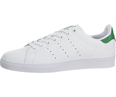 adidas Originals Men's Shoes | Stan Smith Vulc, White/White/Green, (8.5 M - Mens Shoes Smiths