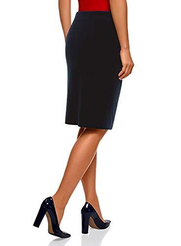 Femme Jupe Bleu Velours 7900n Collection Droite oodji Coupe en T4nz5xwq