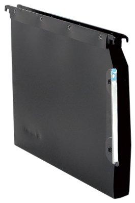 Elba L Oblique Suspension File Lateral Polypropylene 30mm Base Foolscap Black Ref L685522 [Pack of 25] by Elba