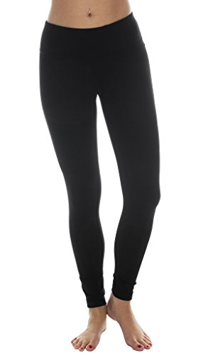 90 Degree By Reflex Power Flex Yoga Pants   Black   Medium