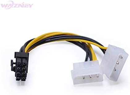 Cable Length: About 17cm, Color: 2 IDE to 8 pin ShineBear 300pcs//lot 2 Dual Double 4 Pin Molex IDE Male to 8 Pin Female PCI-E Y Molex IDE Power Cable Adapter Connector for GPU Video Card
