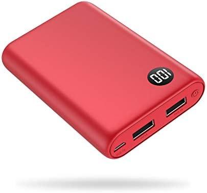 Kilponen Batería Externa 13800mAh Power Bank Cargador Móvil Portátil Ultra Compacto 2 Salidas USB con Ultra Alta Capacidad para Huawei,Xiaomi ...