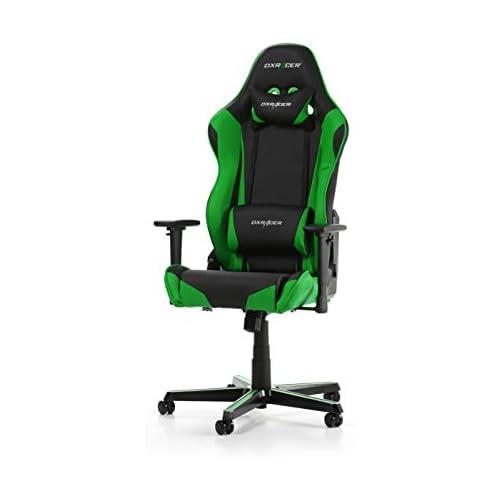 chollos oferta descuentos barato DXRacer el Original Racing R0 Silla Gaming Cuero sintético Negro Verde 165 195 cm
