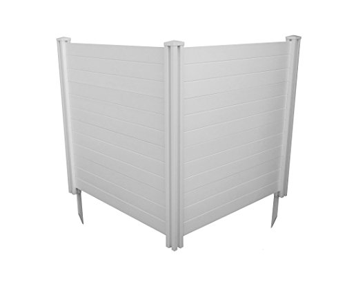 Plastic Fence Panels - Zippity Outdoor Products Premium Vinyl Privacy Screen, 48