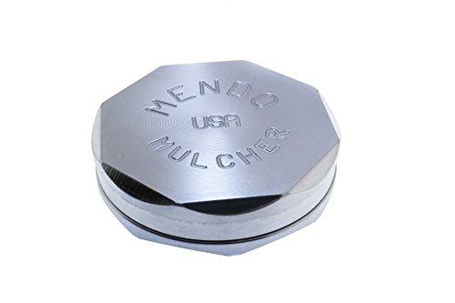 Mendo Mulcher Aluminum Billet 2 Piece Grinder (3.00 inch Large, Aluminum) ()