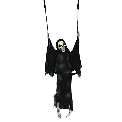Halloween Haunters Life-Size Swing with Skeleton Ghost Reaper Swinging Prop Decoration - Hang in Trees, Graveyards, Entryways (Halloween Decorations Ghosts Around Tree)
