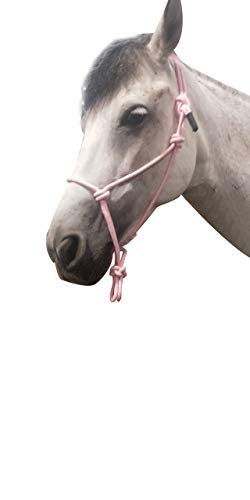TGW RIDING Horse Poly Rope Tied Halter (Pink)