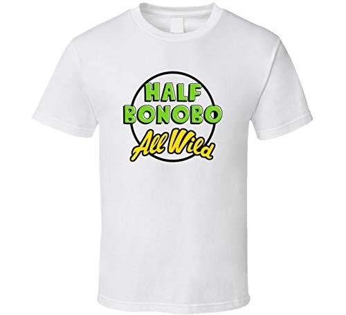Half Bonobo All Wild Cool Trending Zoo Animal Pet T Shirt L White