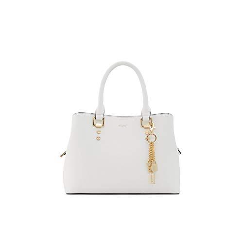 Aldo Women's Top Handle Satchel Handbag Legoiri, White, Small