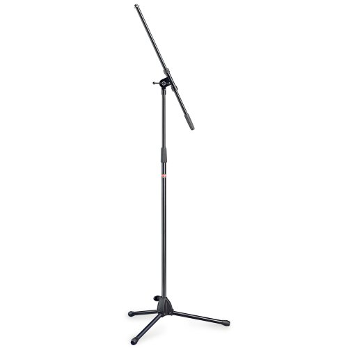 (Stagg Tripod Boom Microphone Stand with Folding Legs - Black)