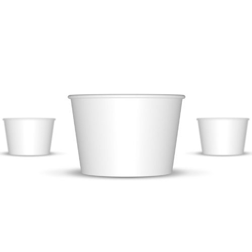 8 oz Paper Hot/Cold Ice Cream Cups - 100ct (White)