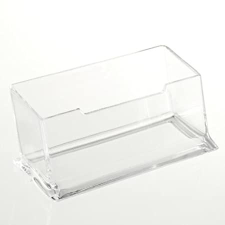 TOOGOO (R) Soporte Caja de Escritorio para Tarjeta de Visita, Plastico Acrilico Transparente