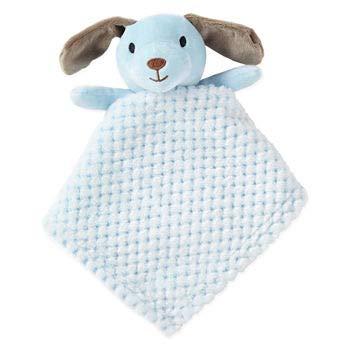 (Okie Dokie Plush Security Blanket Snuggle Buddy (Blue Puppy))