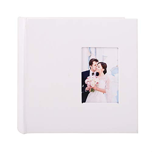 FaCraft Wedding Photo Album 4x6 (200 White,Blank)