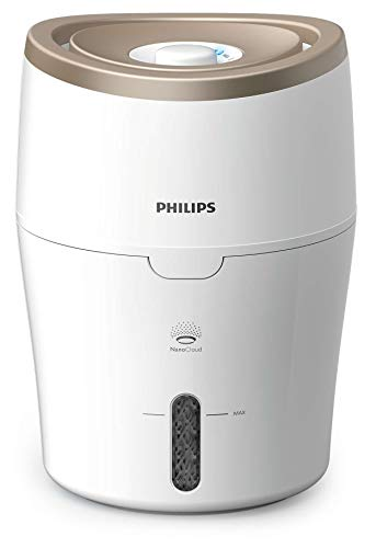 PHILIPS Humidifier Series 2000 HU4811/90.NanoCloud technology. Quiet sleep mode, 2 fan speed.2 years warranty, White…
