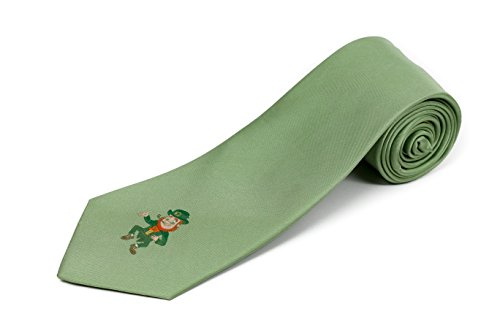 Leprechaun Tie - Extra Long St. Patrick's Day Leprechaun Silk Tie (63 Inches)