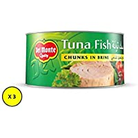 Del Monte Canned Tuna Fish Chunk In Brine , 185 gms (Pack of 3)