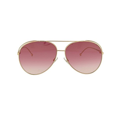 Fendi Run Away FF 0286/S 000 Sunglasses ‑ Gold/Dark Pink - Polarized Fendi Sunglasses