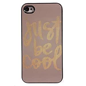 PEACH- Just Be Cool Design Aluminum Hard Case for iPhone 4/4S