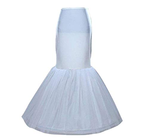 Sisjuly Women's Mermaid Underskirt Wedding Petticoat Slips for Bridal One Size White (Slip For Wedding Dress)