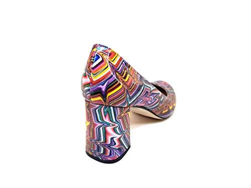 Cm In Tacco Donna Multicolore Viva Punta Chiusa 6 Scarpe Grosso Pelle Dinasty Rotonda Con Gennia Da wHvCx0I