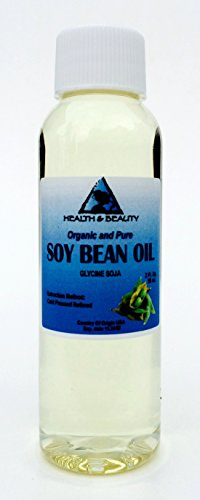 Soybean / Soy Bean Oil Organic Carrier SOY OIL Cold Pressed 100% Pure 2 oz