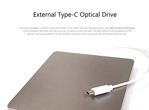 CE-LXYYD External CD DVD Drive, USB DVD CD ROM Burner/Writer/Superdrive with High Speed Data Transfer for Mac MacBook Pro/Air iMac Laptop Inhaled