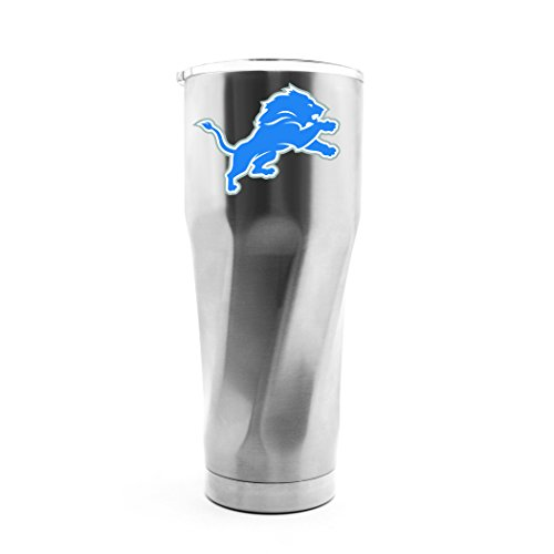 (NFL Detroit Lions 30oz Double Wall Stainless Steel Thermo Tumbler with Cap)