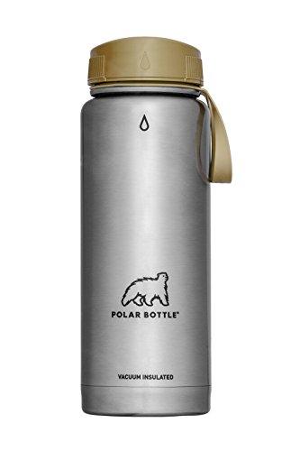 Polar Bottle Thermaluxe - Vacuum Insulated Stainless Steel Travel Mug, Stainless Steel {Half-Twist Cap - Desert} 21 oz.