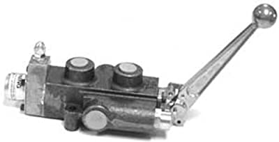 """CROSS Manufacturing 108360 SCD Series Cast Iron Single Spool Monoblock Hydraulic Directional Control Valve, 3/4"""" x 3/4"""" x 1/2"""" NPT Female, 2500 psi, Grey from CROSS Manufacturing"""