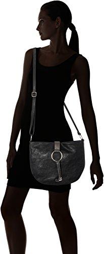 Gerry Weber Expression Shoulderbag Lhz - Borse a tracolla Donna, Schwarz (Black), 7x25x31 cm (B x H T)
