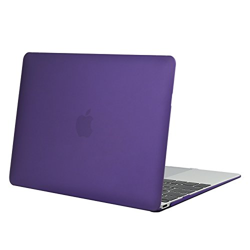 MOSISO Plastic Hard Shell Case Cover Compatible MacBook 12 Inch Retina Display Model A1534 (Version 2017/2016/2015), Ultra Violet