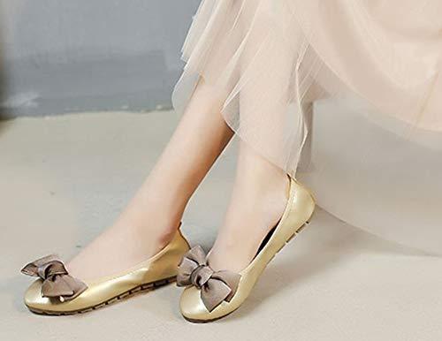 Noeud Femme Or Mode Plates De Ballerines Aisun Chaussures Danse 6qxdqY8