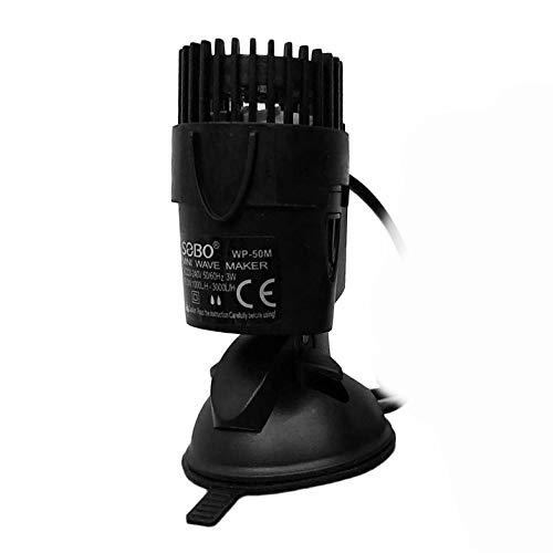 Cloverclover Generador de Ondas de Flujo de Bomba de Toma de Olas Powerhead Simple con Base de succi/ón Fuerte