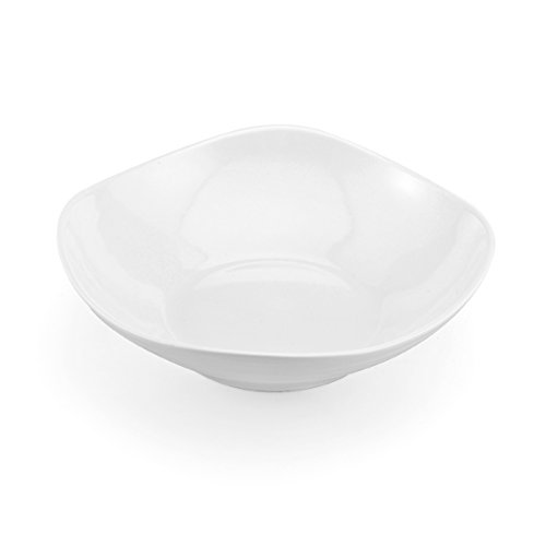 Mikasa Swirl White Square Pasta Bowl, 9.25-Inch