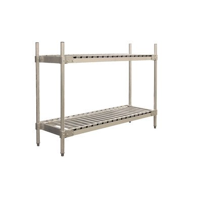 PVIFS KR204736-2 Keg Shelving Unit, 4 Keg Capacity, 36'' Length x 20'' Width x 48'' Height, 2 Shelves by PVIFS