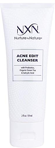 NxN Acne Edit Cleanser with Probiotics, Green Tea, Algae and Salicylic Acid to heal and prevent acne breakouts and  blemishes