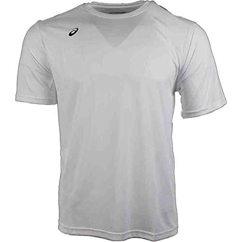 ASICS Mens Circuit 8 Warm-up Shirt, Small, White
