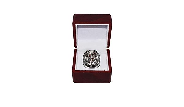 Philadelphia Phillies 2008 World Series Champions Rare Collectible High-Quality Replica Silver Baseball Championship Ring with Cherrywood Display Box