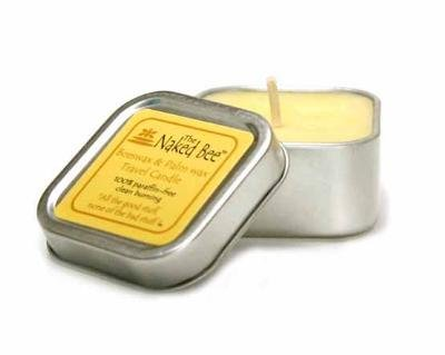 5.5 Ounce Soy Candle (The Naked Bee Beeswax & Soybean Wax Travel Candle 100% Paraffin Free 5.5oz)