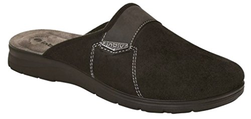 INBLU pantofole ciabatte da uomo INVERNALI mod. BG-18 nero NUOVO