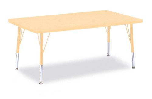 (Jonti-Craft Berries Round Activity Table Prism Maple 30
