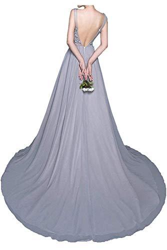 Spitze Sommer Partykleider Kleider La Festlichkleider Braut Chiffon Blau Brautmutterkleider mit Abendkleider Langes mia wqnn8AHzYP