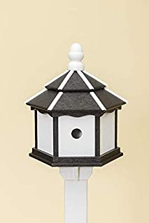 product image for DutchCrafters Poly 3-Hole Hexagon Birdhouse (White/Black)
