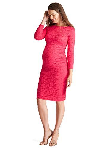 Ingrid & Isabel Women's Maternity Boatneck Lace Dress,