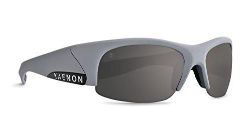Kaenon Hard Kore Polarized Sunglasses Jm10 Matte Grey/Black Logo/Grey 12, Regular - - Kaenon Sr 91 Sunglasses