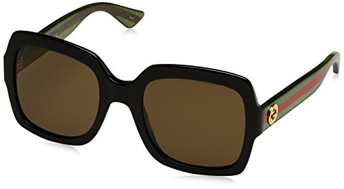 Gucci 0036S Square Sunglasses Lens Category 3 Size 54mm (Black, ()