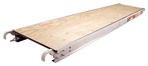 Metaltech M-MPP719 7 Ft. x Aluminum Scaffold Platform with Plywood Deck, 7' x 19'' by Metaltech
