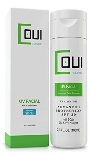 SUNSCREEN SPF UV FACIAL LOTION 30+ Advanced Z-Cote UVA & UVB Protection For Face - Natural, Non-Greasy, Non-Shiny Formula, Makeup Friendly, Fragrance Free - Vitamin C&E - For All Skin Types